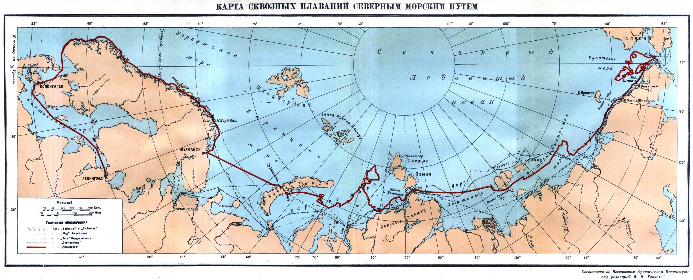 Ο χάρτης του Βόρειου θαλάσσιου δρόμου